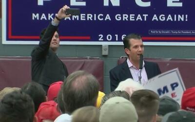 Hijo de Donald Trump le hizo campaña a su padre en Atlanta