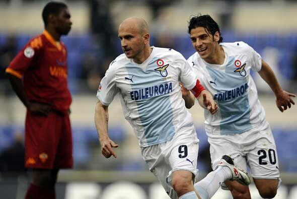 Lazio y Roma se vieron las caras y el club lazial se puso en ventaja con...