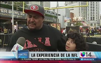 """Una probadita de la exhibición """"NFL Experience"""""""