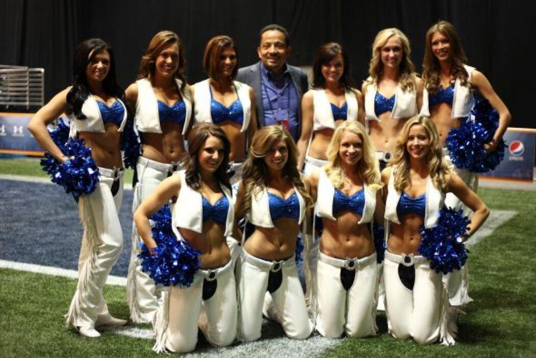 Y no cualquier belleza, las Colts animaron el Tazón Latino VI.