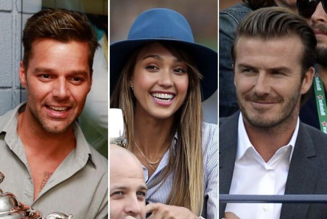 Ricky Martin, Jessica Alba, David Beckham, Eva Longoria y muchas celebri...