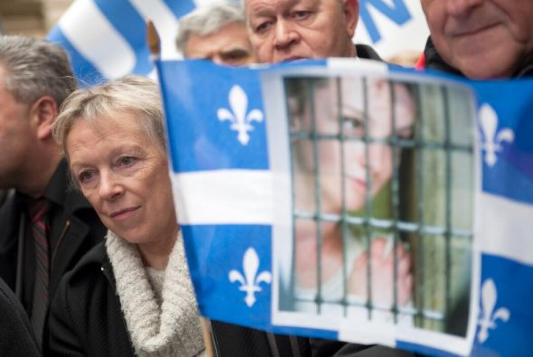 Charlotte Cassez ha encabezado varias manifestaciones en Francia para ex...