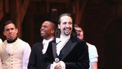 El puertorriqueño presenta su más reciente show de Broadway, Hamilton.