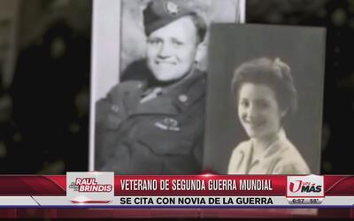 Veterano de 93 años se cita con su novia de la guerra
