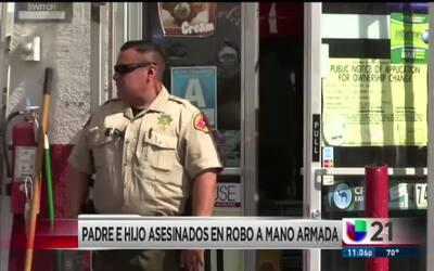 Padre e hijo asesinados en robo a mano armada