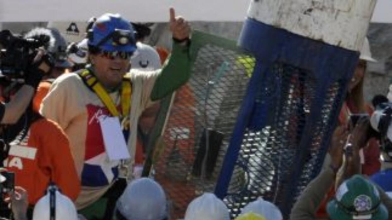 El minero Samuel Avalos, de 43 años de edad, casado con Ruth Guzmán Dono...