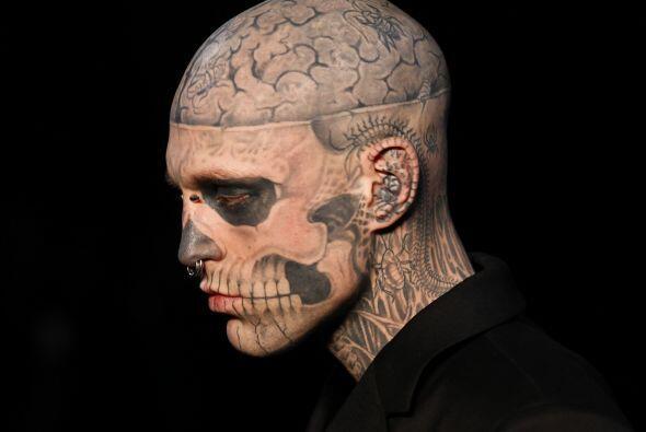 Rick Genest es sin duda, uno de los modelos más excéntrico...