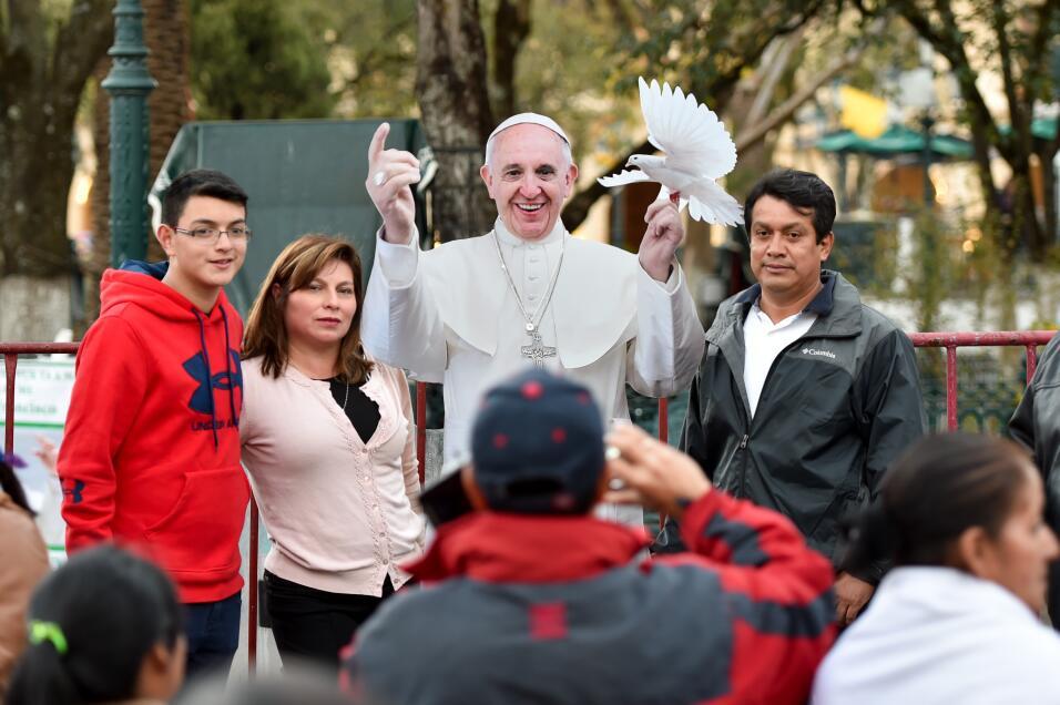 El papa visita Chiapas.