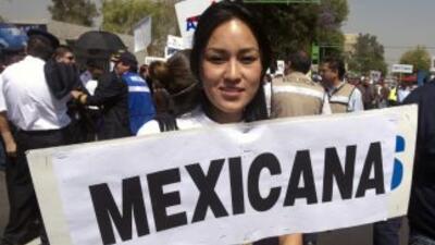 Una exempleada de la aerolínea Mexicana.