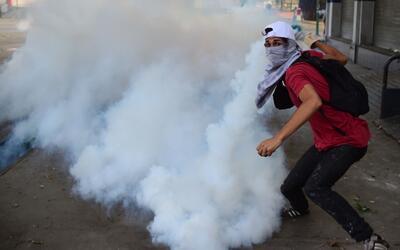 Manifestante opositor en una de las protestas contra el gobierno de Nico...