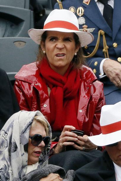 Pero qué cara de la infanta de España, Elena, ¿pero que no quería que ga...