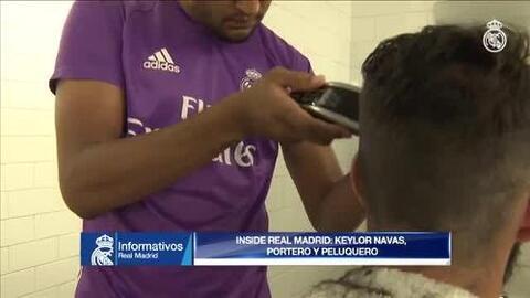 Keylor Navas se convierte en el estilista del Real Madrid