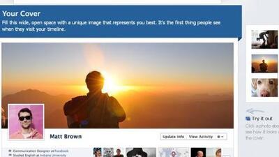 Con Timeline podrás elegir la foto que mejor te represente.