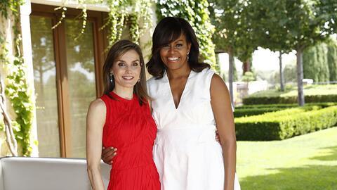 La primera dama mantuvo un encuentro privado con la reina Letizia en el...