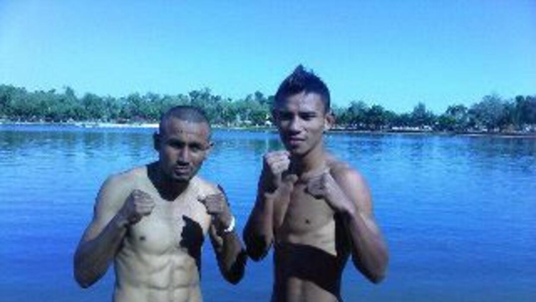 Salido y Weng estuvieron en peso para su combate (Foto: Facebook)