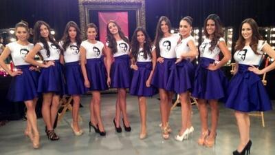 Ellas son las chicas que acompañan al zar de la belleza.