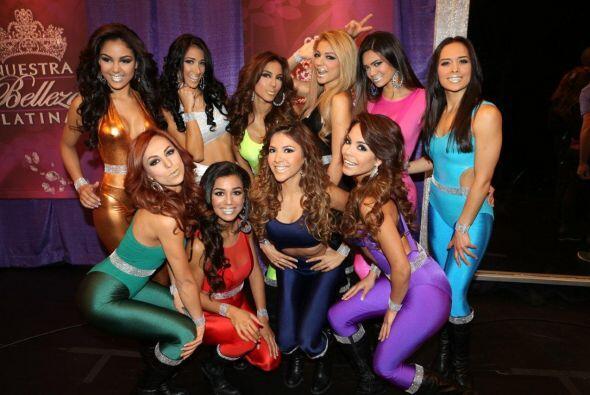 Otra foto para el recuerdo, las once bellas reunidas por última vez. ¿Qu...