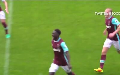 El golazo del juvenil del West Ham que firmaría hasta Messi