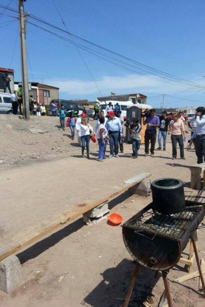 Don Francisco visitó una de las zonas más castigadas por e...