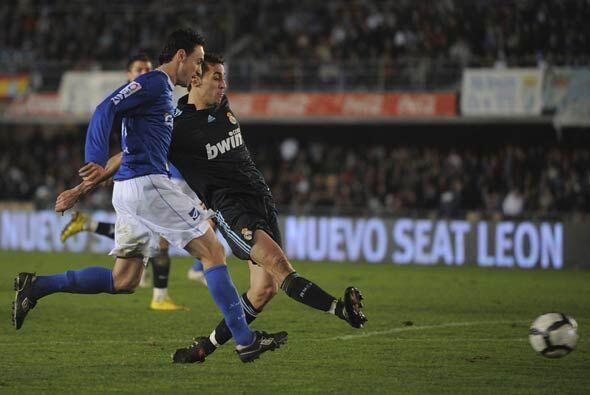 Arbeloa se descolgó desde su lateral para adelantar al Real Madrid con e...