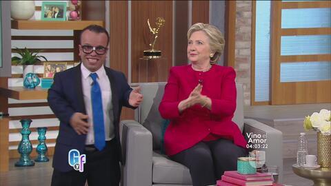 Hillary Clinton aprende varias palabras en español con El Gordo y La Flaca