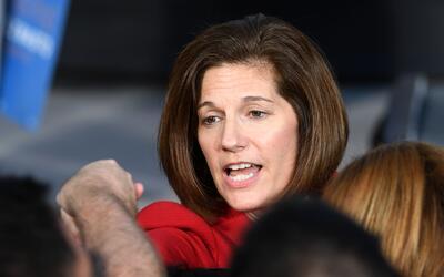 Catherine Cortez Masto es la candidata demócrata al Senado por el...