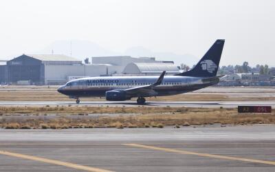 El despegue de una aeronave de Aeroméxico