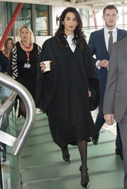 Amal asistió a la Corte Europea de Derechos Humanos.