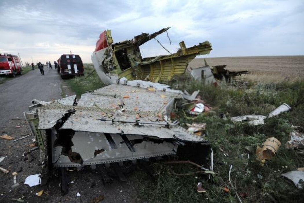 Parte del avión del Malaysia Airlines.