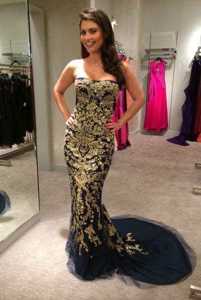 Para que Chiqui se vea muy atrevida y elegante, un vestido con estampado...