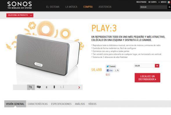 Sonos Play:3-Este sistema estéreo de bocinas compacto es estupendo y una...