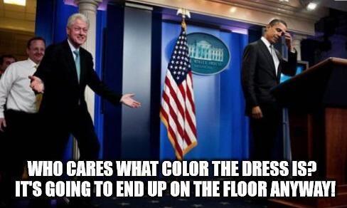 Otra bromita con Bill Clinton.