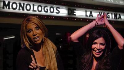 En una de las últimas funciones en Miamide la obra Los Monólogos de la...