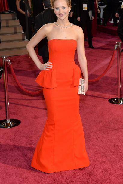 Jennifer Lawrence lució exquisita en ese vestido. ¿A poco...