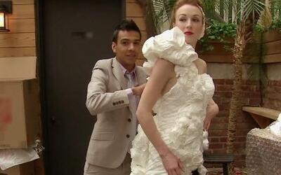 Mira estos vestidos de novia ¡hechos con papel de baño!