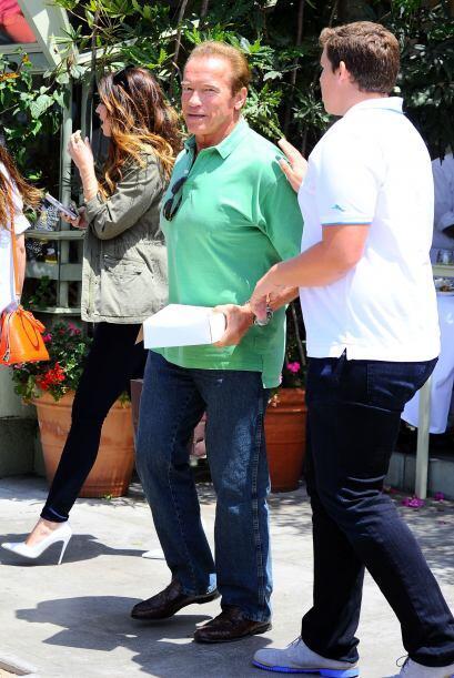 A quien no vimos para nada con Schwarzenegger en este día.