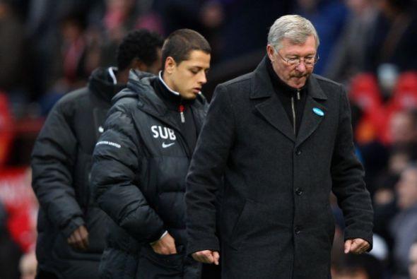 Ferguson y Javier Hernández se retiraron de la cancha con la mirada ida.
