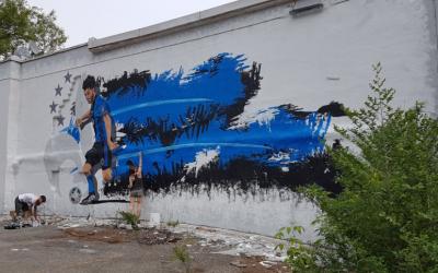 El mural de Ignacio Piatti en Montreal