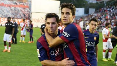 El defensa español desea que el astro argentino termine su carrera en el...