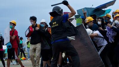 Protestas en Hong Kong dejan al menos 40 arrestos