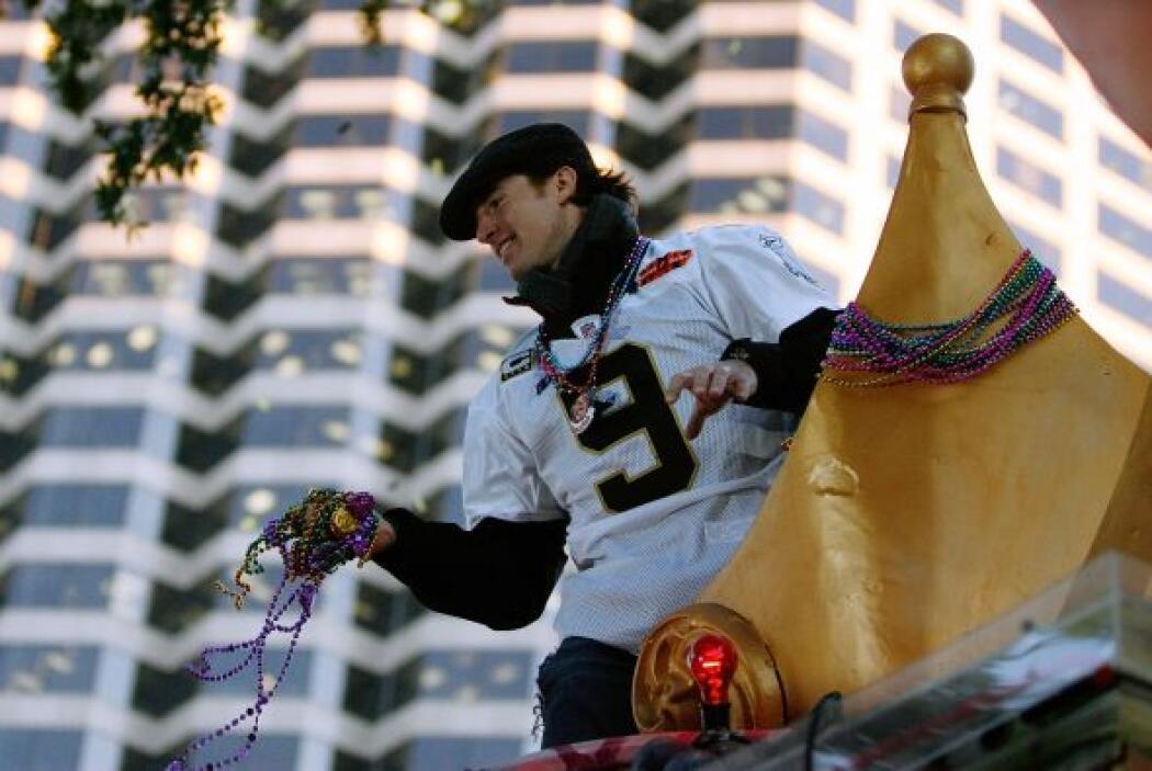 Drew Brees lo hizo cuando los Saints ganaron el Super Bowl XLIV.