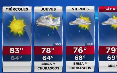 Cielo mayormente despejado y temperaturas cálidas este miércoles en Miami