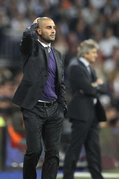 Duelo de técnicos que ganó Pep Guardiola sobre el chileno Pellegrini.