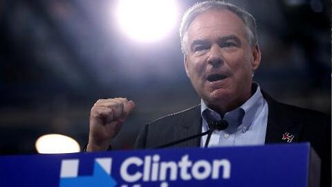 Kaine acepta la fórmula junto a Hillary con un discurso en español