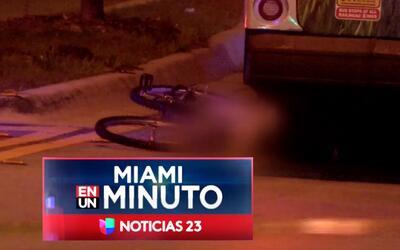 'Miami en un Minuto': hombre que conducía bicicleta murió atropellado po...