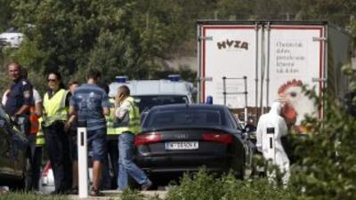 Los inmigrantes viajaban dentro de un camión frigorífico sin ventilación...