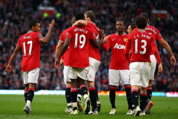 El 'United' consiguió ponerse arriba, con algo de suerte.