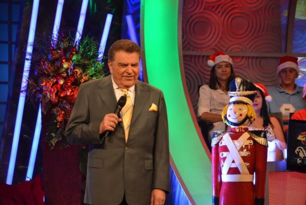 Ya con el espíritu navideño en todo el programa, entonces llegó el momen...