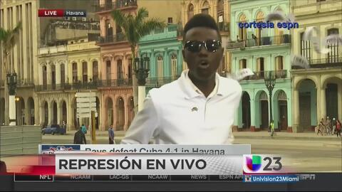 Opositor cubano protesta en vivo por televisión internacional