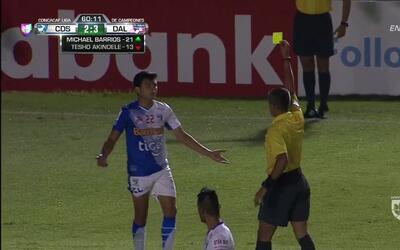 Tarjeta amarilla. El árbitro amonesta a René Mauricio Maltes Obregón de...